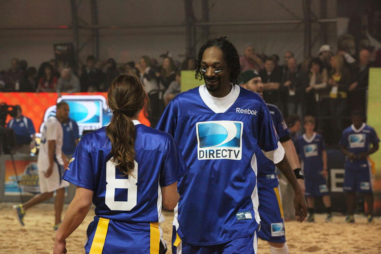 Snoop Dogg at the DirecTV Celebrity Beach Bowl in Indianapolis.