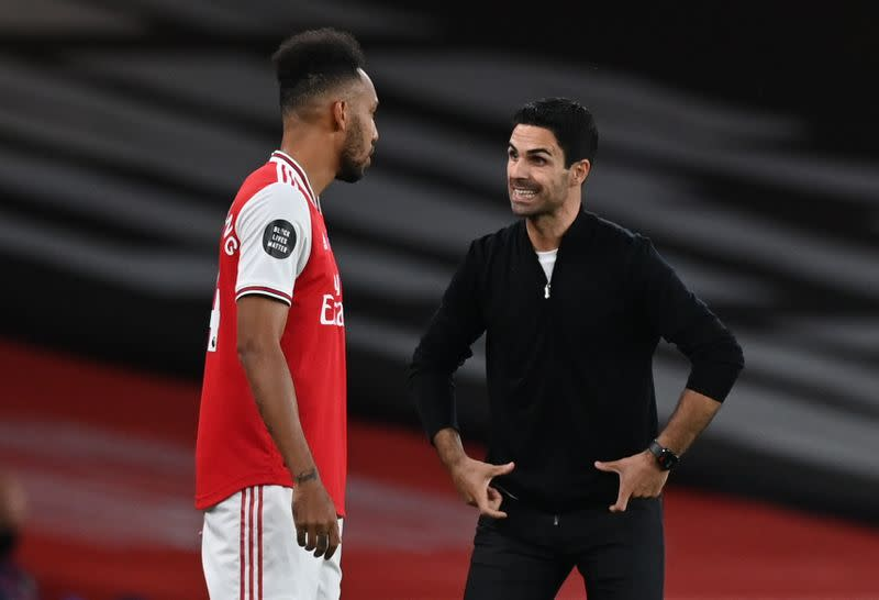 Arsenal boss Arteta hopes Cup win over City convinces Aubameyang to stay