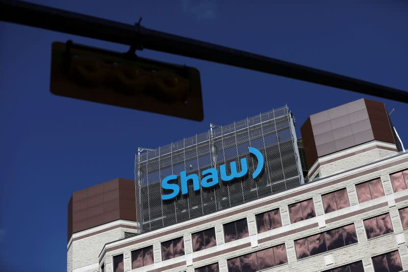 FILE PHOTO: The Shaw Communications logo is seen at their office in Calgary