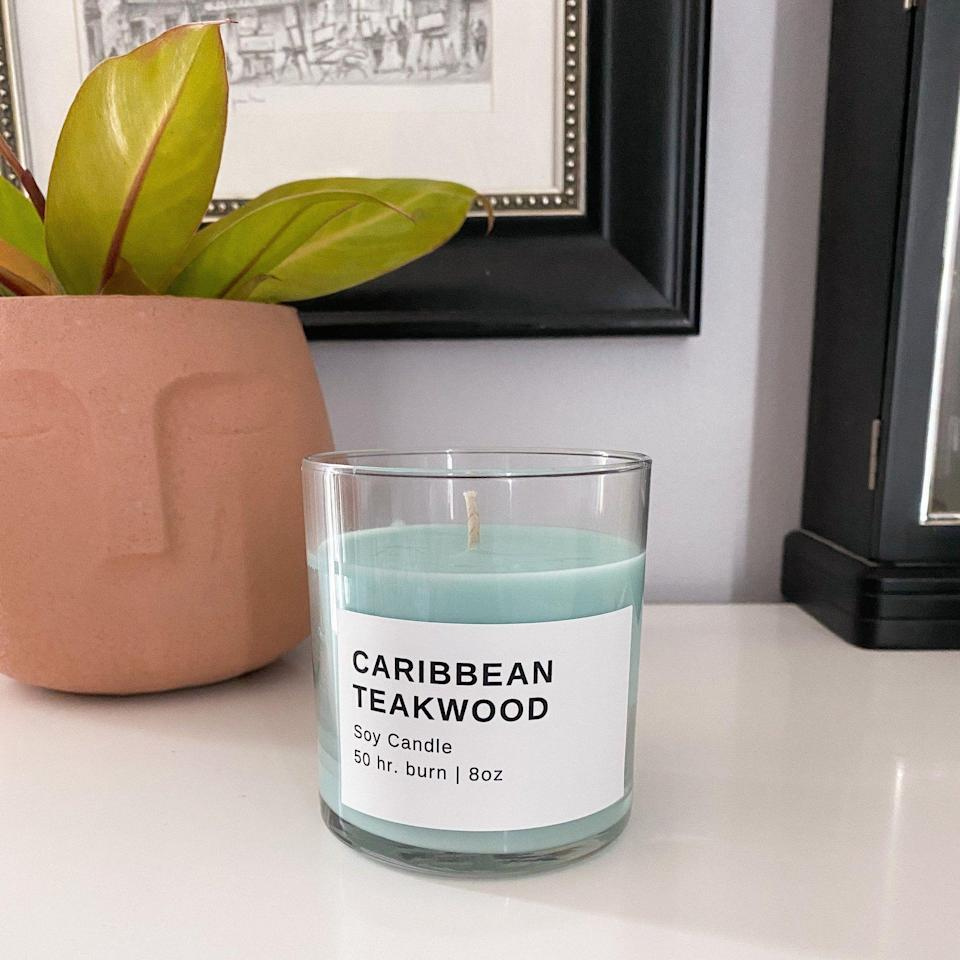 """<p><strong>Pretty Honest Shop</strong></p><p>prettyhonestshop.com</p><p><strong>$20.00</strong></p><p><a href=""""https://www.prettyhonestshop.com/products/caribbean-teakwood-pastel-soy-candle"""" rel=""""nofollow noopener"""" target=""""_blank"""" data-ylk=""""slk:Shop Now"""" class=""""link rapid-noclick-resp"""">Shop Now</a></p><p>I get it if you're tired of boring white wax candles. Luckily, Pretty Honest Shop has some fun pastel options to choose from.</p>"""