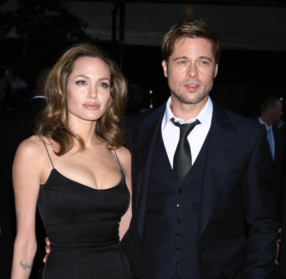 """August 11th 2020 - Angelina Jolie seeks the removal of a private judge in her ongoing divorce case against former husband Brad Pitt. - File Photo by: zz/Victor Malafronte/STAR MAX/IPx 2007 9/18/07 Brad Pitt and Angelina Jolie at the premiere of """"The Assassination of Jesse James by the Coward Robert Ford"""". (NYC)"""