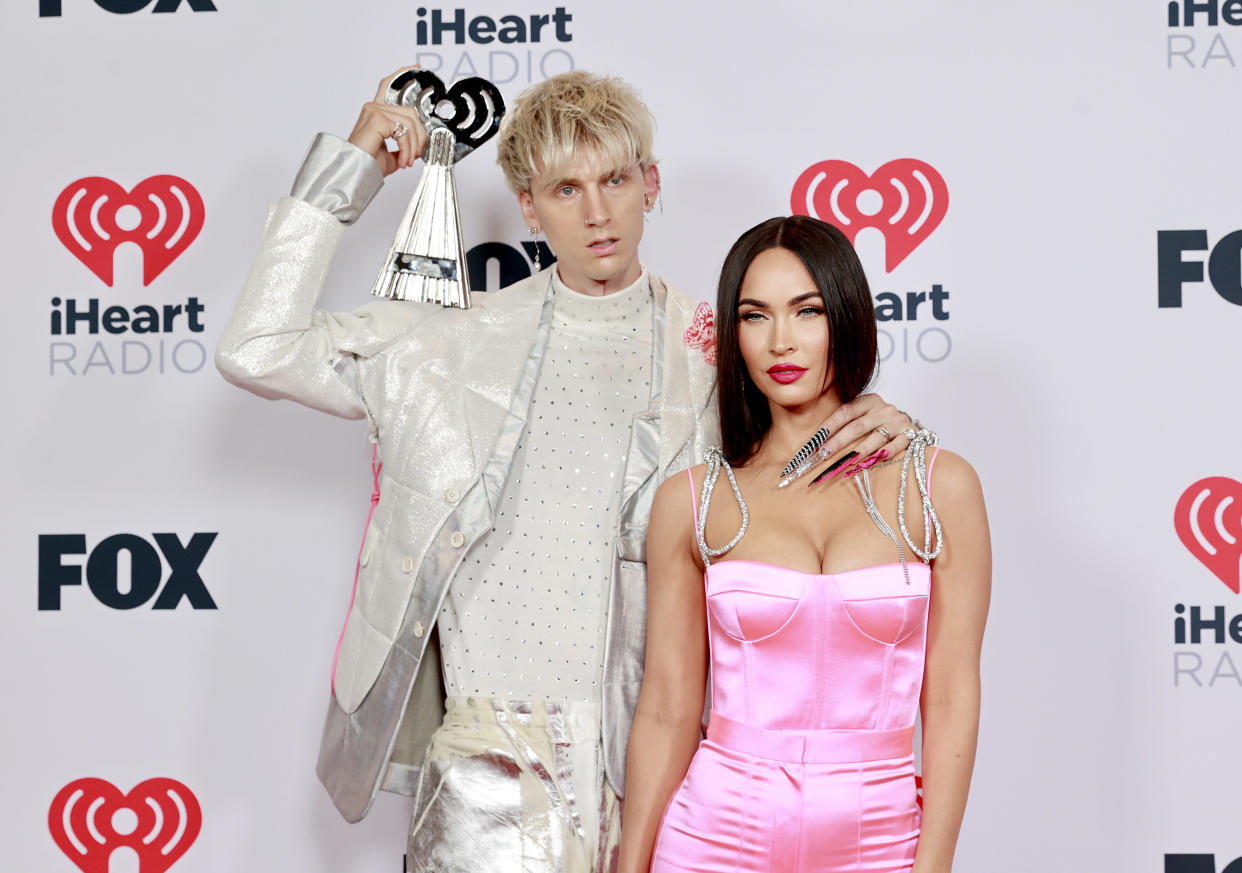 Machine Gun Kelly and Megan Fox at the 2021 iHeartRadio Music Awards. (Photo: Getty Images)
