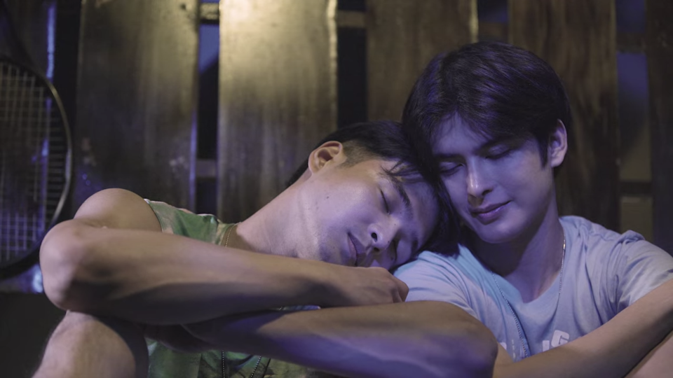 Ben X Jim is a Philippine boys' love drama series that stars Teejay Marquez (right) as Ben and Jerome Ponce as Jim. (Screenshot: Netflix)