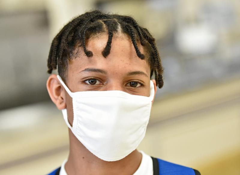 Booker High School freshman Ronnie Thomas, 14, said he appreciates the preventive measures the school has implemented in response to the COVID-19 pandemic.