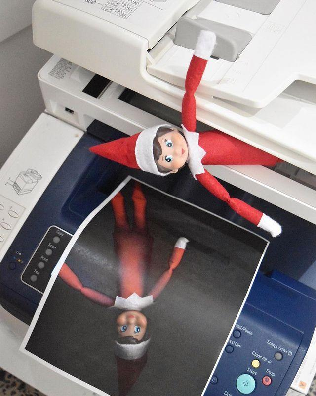 """<p>Any jokester knows that a photocopier is a veritable gold mine when it comes to the pranking game. Let your Elf in on the fun with this cute idea. </p><p><a class=""""link rapid-noclick-resp"""" href=""""https://go.redirectingat.com?id=74968X1596630&url=https%3A%2F%2Fwww.walmart.com%2Fsearch%2F%3Fquery%3Delf%2Bon%2Bthe%2Bshelf&sref=https%3A%2F%2Fwww.thepioneerwoman.com%2Fholidays-celebrations%2Fg34080491%2Ffunny-elf-on-the-shelf-ideas%2F"""" rel=""""nofollow noopener"""" target=""""_blank"""" data-ylk=""""slk:SHOP ELF ON THE SHELF"""">SHOP ELF ON THE SHELF</a></p><p><a href=""""https://www.instagram.com/p/BcdGFhsF6kB/"""" rel=""""nofollow noopener"""" target=""""_blank"""" data-ylk=""""slk:See the original post on Instagram"""" class=""""link rapid-noclick-resp"""">See the original post on Instagram</a></p>"""