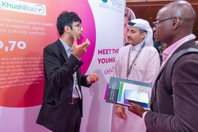 An image from the Innovation Hub at the 2018 edition of the World Innovation Summit for Health
