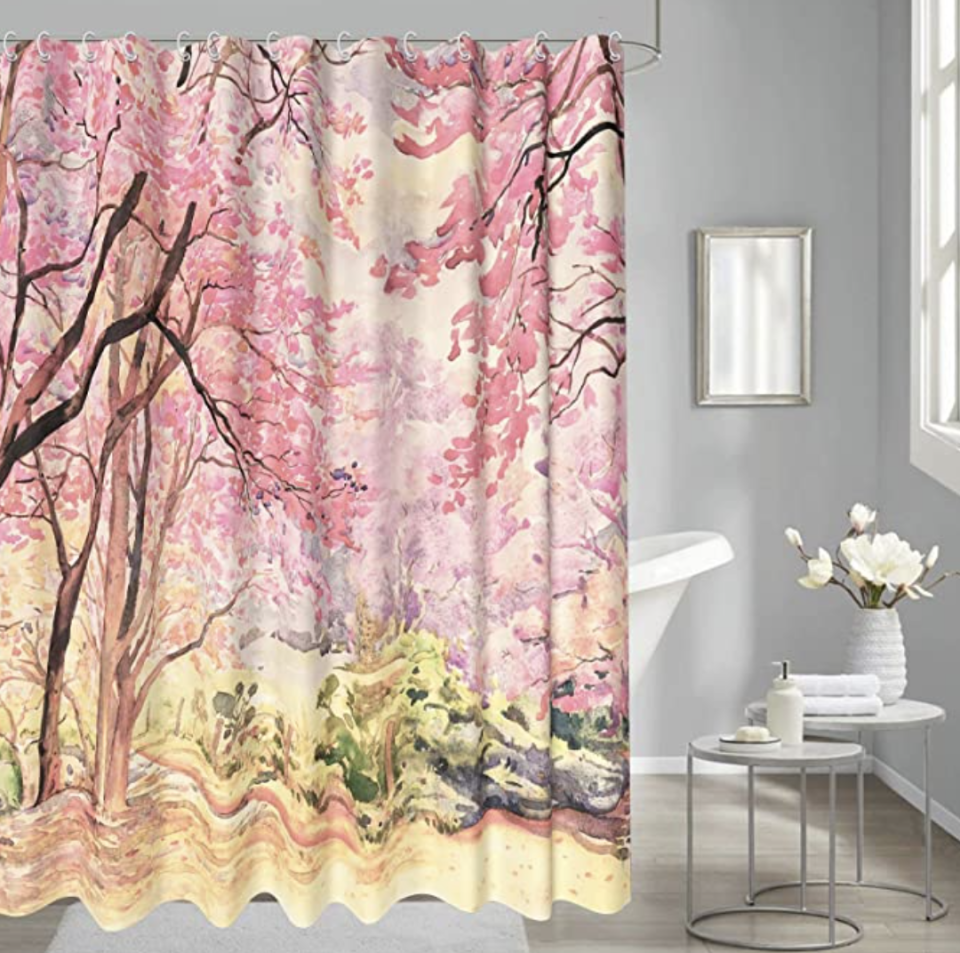 PHOTO: Amazon. Cherry Forest Shower Curtain, Waterproof Washable, 72x72 Inches