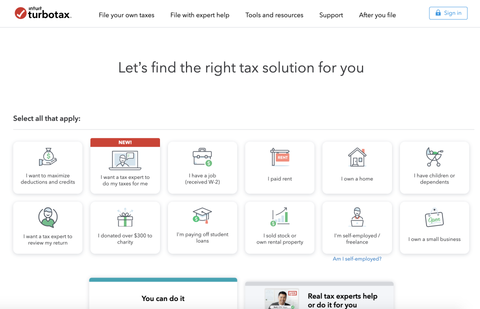 TurboTax has been my choice for the past few years, though its free version doesn't cover student loan interest deductions. (Image: TurboTax)