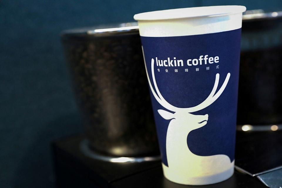 Luckin Coffee touted itself as a Starbucks competitor in China by rapidly expanding and offering deep discounts. PHOTO: Reuters