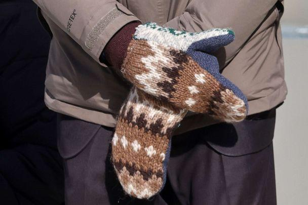 PHOTO: Senator Bernie Sanders wears mittens as he attends the inauguration of Joe Biden as the 46th President of the United States on the West Front of the U.S. Capitol in Washington, D.C., Jan. 20, 2021. (Jonathan Ernst/Pool via Reuters)