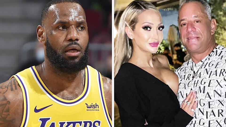 LeBron James' verbal stoush with Juliana Carlos and her husband Chris dominated headlines after the Lakers' win over the Atlanta Hawks. Pictures: Getty Images/Instagram