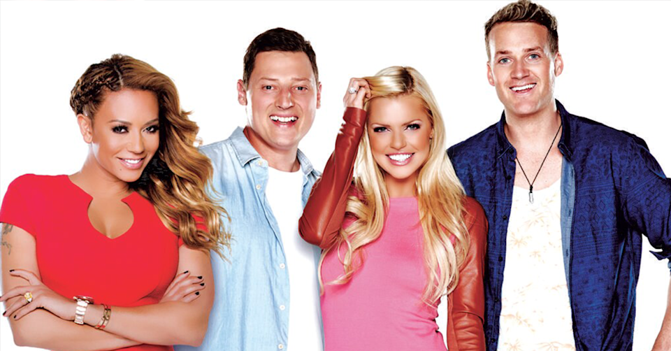 Sophie Monk with Mel B, Merrick Watts and Jules Lund.