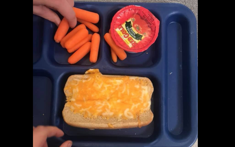 "A Minnesota school district is under fire after a photo of a ""shameful"" lunch goes viral. (Photo: Facebook)"