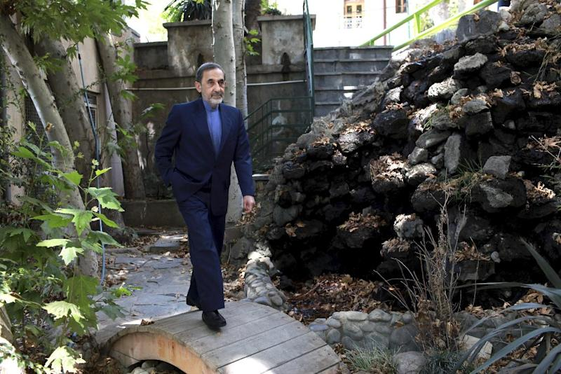 In this Sunday, Aug. 18, 2013 photo, Ali Akbar Velayati, a top adviser to Iran's supreme leader Ayatollah Ali Khamenei, walks in a garden, at the conclusion of an interview with The Associated Press at his office, in Tehran, Iran. Velayati says election of moderate President Hasan Rouhani has provided a good opportunity for world powers to reach a deal over Iran's nuclear program. Velayati, who advises Ayatollah Ali Khamenei on key matters including the nuclear issue, tells The Associated Press that the Islamic republic will never again suspend its nuclear activities but will employ new tactics to reach out to the world to find a common language. (AP Photo/Ebrahim Noroozi)