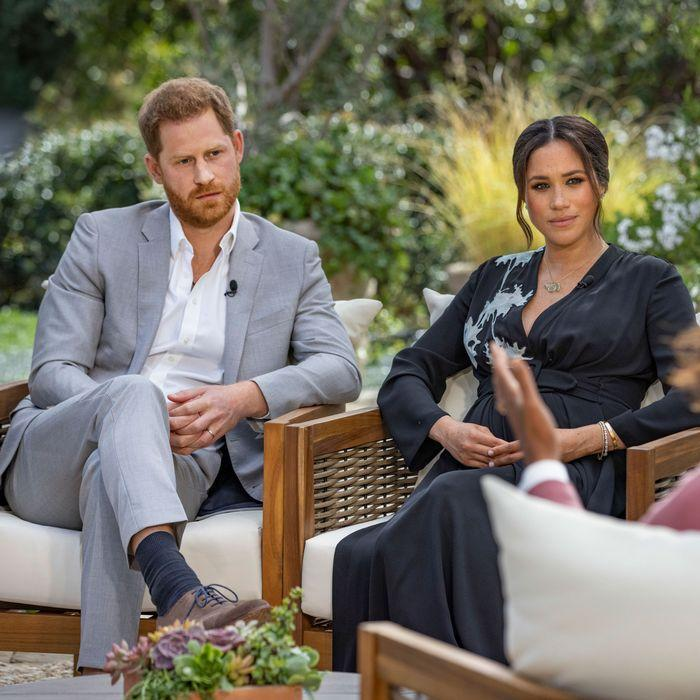During the interview Meghan claimed Harry had a conversation with a senior royal who had concerns over their son's skin colour. Photo: CBS