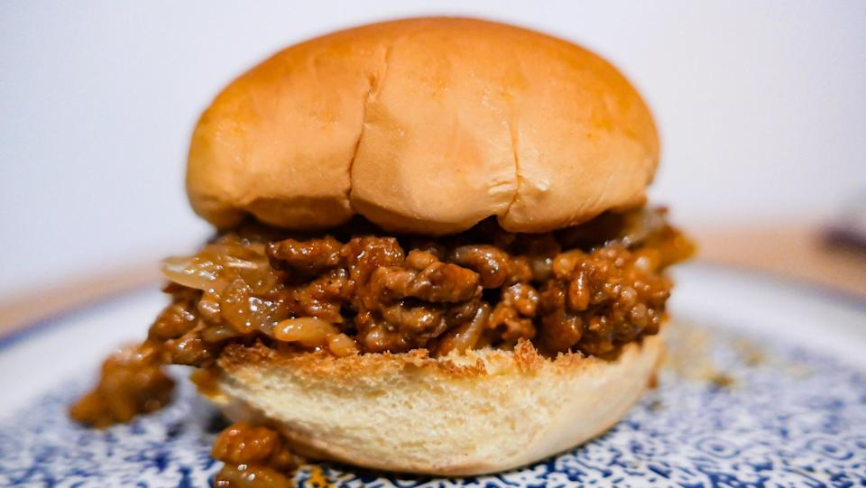 """<p>Midwesterners love a <a href=""""https://www.thedailymeal.com/best-recipes/101-best-slow-cooker-recipes-slideshow?referrer=yahoo&category=beauty_food&include_utm=1&utm_medium=referral&utm_source=yahoo&utm_campaign=feed"""" rel=""""nofollow noopener"""" target=""""_blank"""" data-ylk=""""slk:slow cooker meal"""" class=""""link rapid-noclick-resp"""">slow cooker meal</a>, and meals made with canned ingredients. This better-than-Manwich sloppy joe recipe is the best of both worlds and perfect for a <a href=""""https://www.thedailymeal.com/cook/forgotten-childhood-dinners?referrer=yahoo&category=beauty_food&include_utm=1&utm_medium=referral&utm_source=yahoo&utm_campaign=feed"""" rel=""""nofollow noopener"""" target=""""_blank"""" data-ylk=""""slk:nostalgic dinner"""" class=""""link rapid-noclick-resp"""">nostalgic dinner</a> or a <a href=""""https://www.thedailymeal.com/cook/mouthwatering-game-day-snacks-gallery?referrer=yahoo&category=beauty_food&include_utm=1&utm_medium=referral&utm_source=yahoo&utm_campaign=feed"""" rel=""""nofollow noopener"""" target=""""_blank"""" data-ylk=""""slk:game-day gathering"""" class=""""link rapid-noclick-resp"""">game-day gathering</a>.</p> <p><a href=""""https://www.thedailymeal.com/recipes/classic-homemade-sloppy-joes-recipe?referrer=yahoo&category=beauty_food&include_utm=1&utm_medium=referral&utm_source=yahoo&utm_campaign=feed"""" rel=""""nofollow noopener"""" target=""""_blank"""" data-ylk=""""slk:For Grandma's Sloppy Joes recipe, click here."""" class=""""link rapid-noclick-resp"""">For Grandma's Sloppy Joes recipe, click here.</a></p>"""
