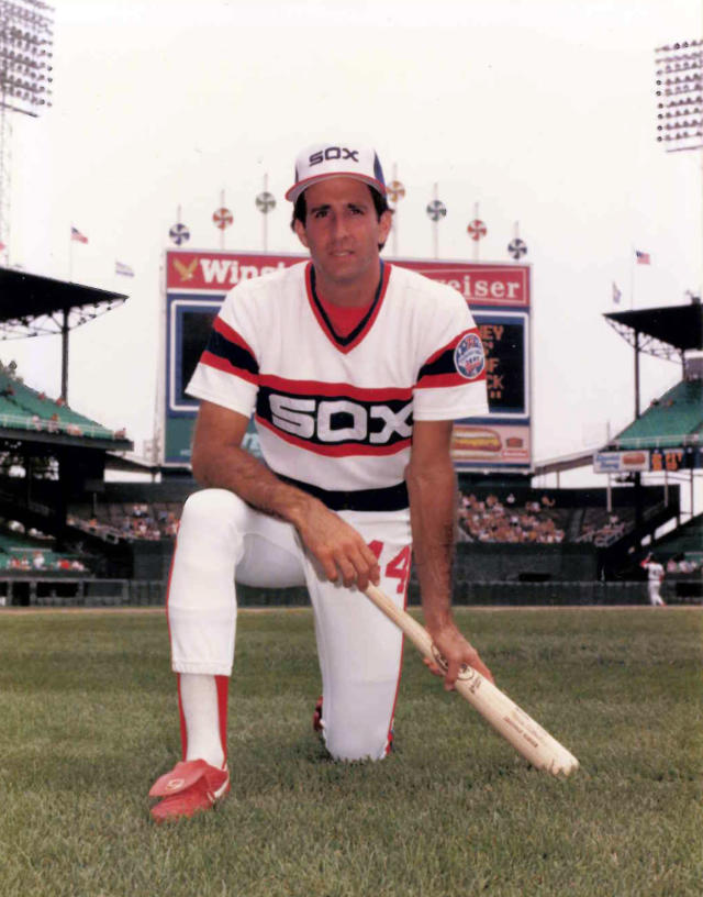In this undated photo provided by the Chicago White Sox, outfielder Mark Gilbert poses at Comiskey Park in Chicago. The former White Sox outfielder is on deck for a new position: If confirmed by the Senate, he'll become the U.S. ambassador to New Zealand. The U.S. State Department said it couldn't find any other record of a former major league player having served as an ambassador. (AP Photo/Chicago White Sox)