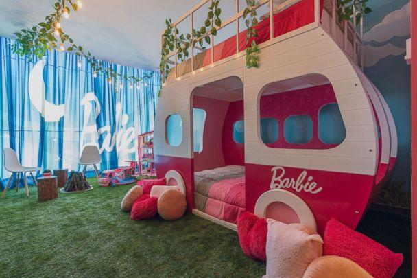 PHOTO: Sleep inside the DreamCamper in the Barbie suite at Hilton Mexico City Santa Fe. (Hilton Mexico City Santa Fe.)