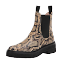 """The snakeskin print adds a playful spin to a traditional Chelsea boot. Bonus: The cool number slips right on, thanks to the elastic mesh panel. $188, Amazon. <a href=""""https://www.amazon.com/Loeffler-Randall-Womens-Raquel-EMSK-Sahara/dp/B089Y4Q2XD/ref=sr_1_19?dchild=1&keywords=Loeffler+Randall+boots&qid=1631119909&sr=8-19"""" rel=""""nofollow noopener"""" target=""""_blank"""" data-ylk=""""slk:Get it now!"""" class=""""link rapid-noclick-resp"""">Get it now!</a>"""