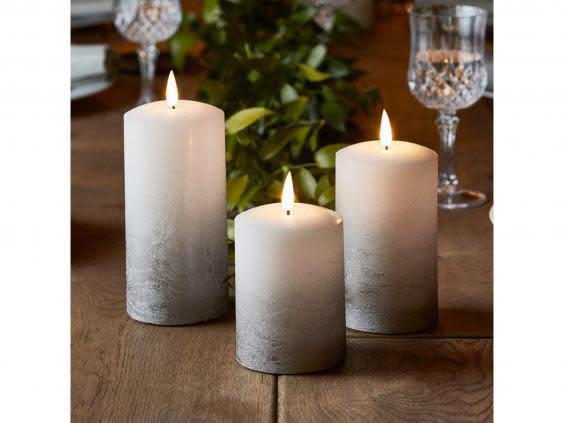 Battery operated candles are low maintenance and are safer for weddings (Lights4Fun)