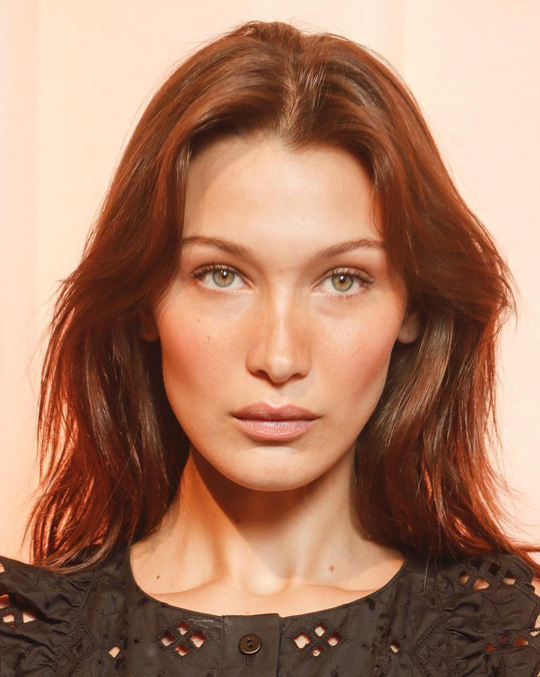 <p>Get the flushed look at Alberta Ferretti by using a creamy blush in a deep red hue-and tap it on lightly.</p>
