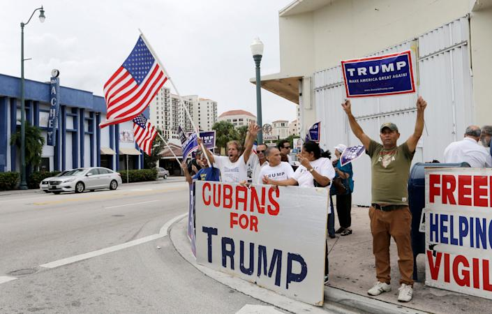 Trump lost Florida Latinos overall in 2016, but won 54% of Cuban American voters.  (Photo: ASSOCIATED PRESS)