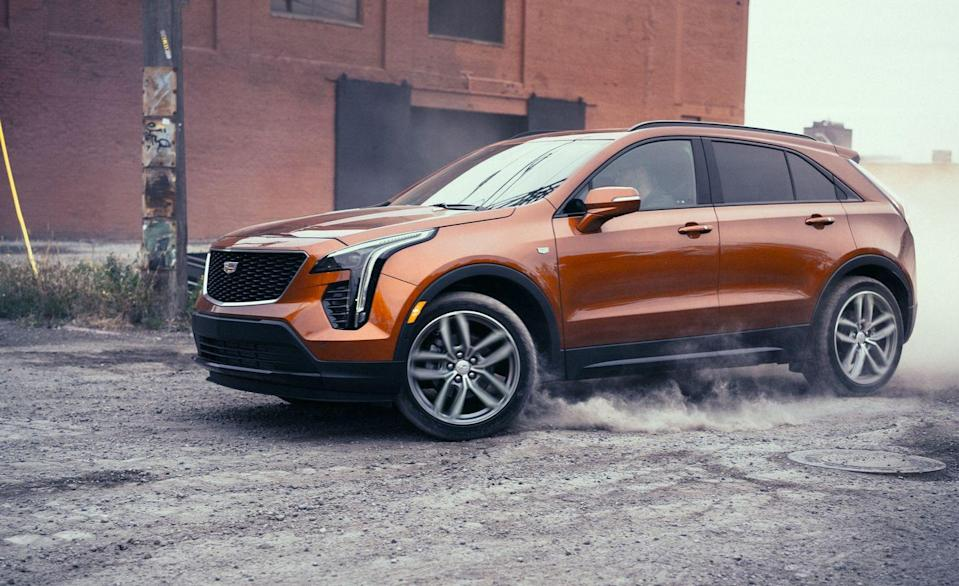 "<p>Cadillac's newest entry-level model, the <a href=""https://www.caranddriver.com/cadillac/xt4"" rel=""nofollow noopener"" target=""_blank"" data-ylk=""slk:XT4"" class=""link rapid-noclick-resp"">XT4</a> crossover, is a far cry from the first entry-level Caddy, the sad-sack, Chevy Cavalier–based Cimarron from the 1980s. The XT4 ticks all the major boxes for a small SUV with premium intentions, and its mechanical package is par for the class. There is a standard turbocharged 2.0-liter inline-four powering the front wheels; all-wheel drive is optional. The base XT4's low price is enticing, but the truth is that it's not so well equipped and getting nicer luxury features requires spending about $40,000.</p><ul><li>Engine: 237-hp turbocharged 2.0-liter inline-four </li><li>Cargo space: 23 cubic feet </li></ul><p><a class=""link rapid-noclick-resp"" href=""https://www.caranddriver.com/cadillac/xt4/specs"" rel=""nofollow noopener"" target=""_blank"" data-ylk=""slk:MORE XT4 SPECS"">MORE XT4 SPECS</a></p>"