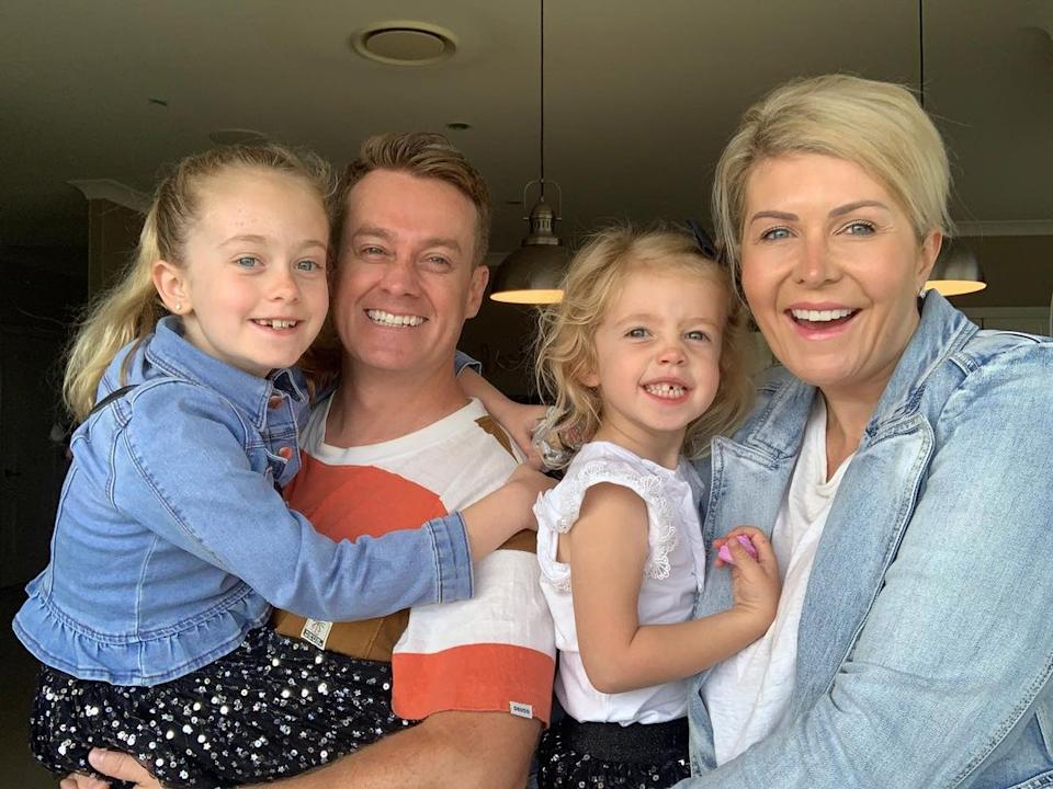 Grant revealed that Chezzi was his producer on Sunrise and when news of their relationship was leaked, she was fired from the show. Photo: Instagram/Grant Denyer