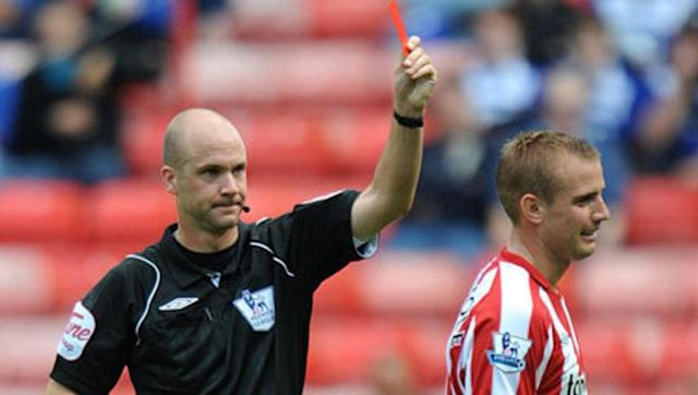 <p>In 2016 it was reported that Sunderland midfielder Lee Cattermole had received red and yellow cards more frequently than any player in the history of the Premier League. </p> <br><p>The former Middlesbrough man's record of 1450 minutes per red card is one of the worst ever in the Premier League and by the age of 20 he had already been dismissed twice in his career.</p> <br><p>His aggression and tough tackling have made him a respectable leader, however, and despite his seven dismissals he remains as vital as ever to the Sunderland starting eleven.</p>