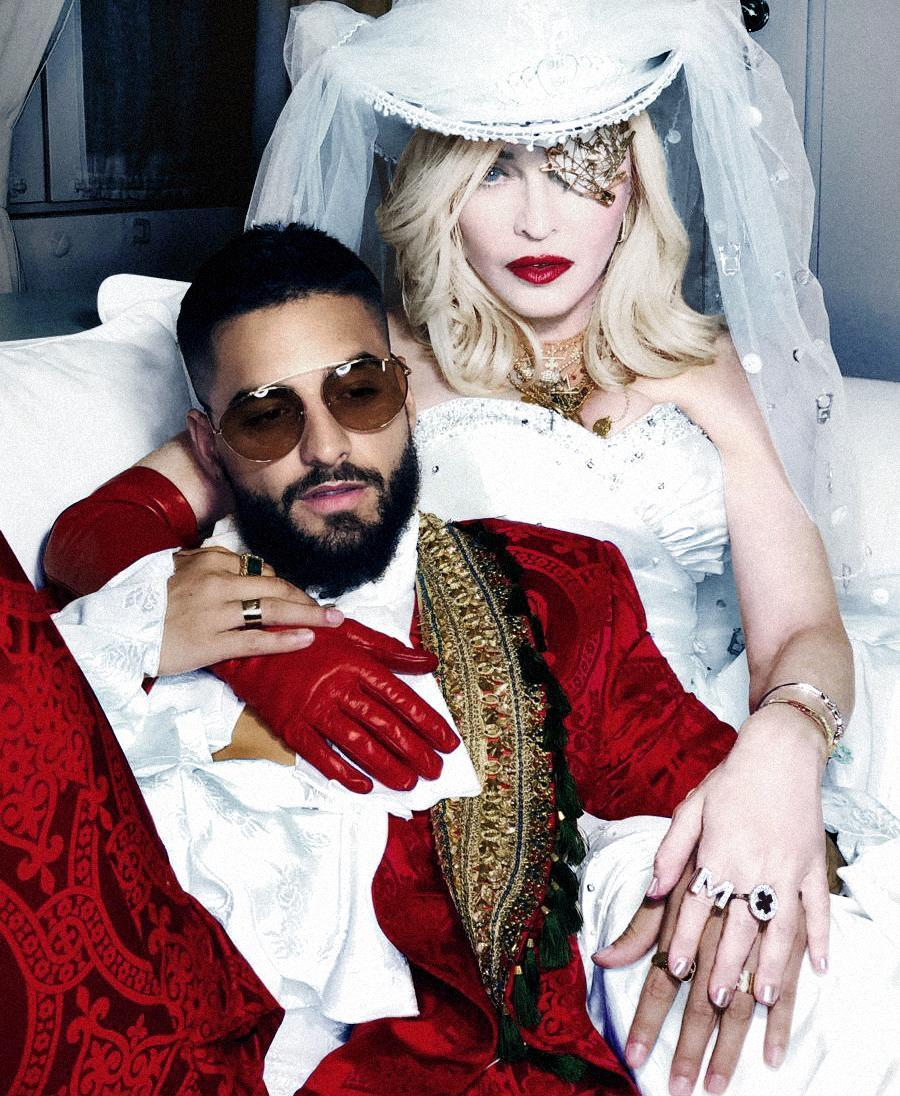 Madonna and Maluma in a still from the music video for single Medellin