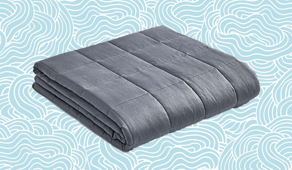 This weighted blanket makes counting sheep easy. (Photo: Amazon)
