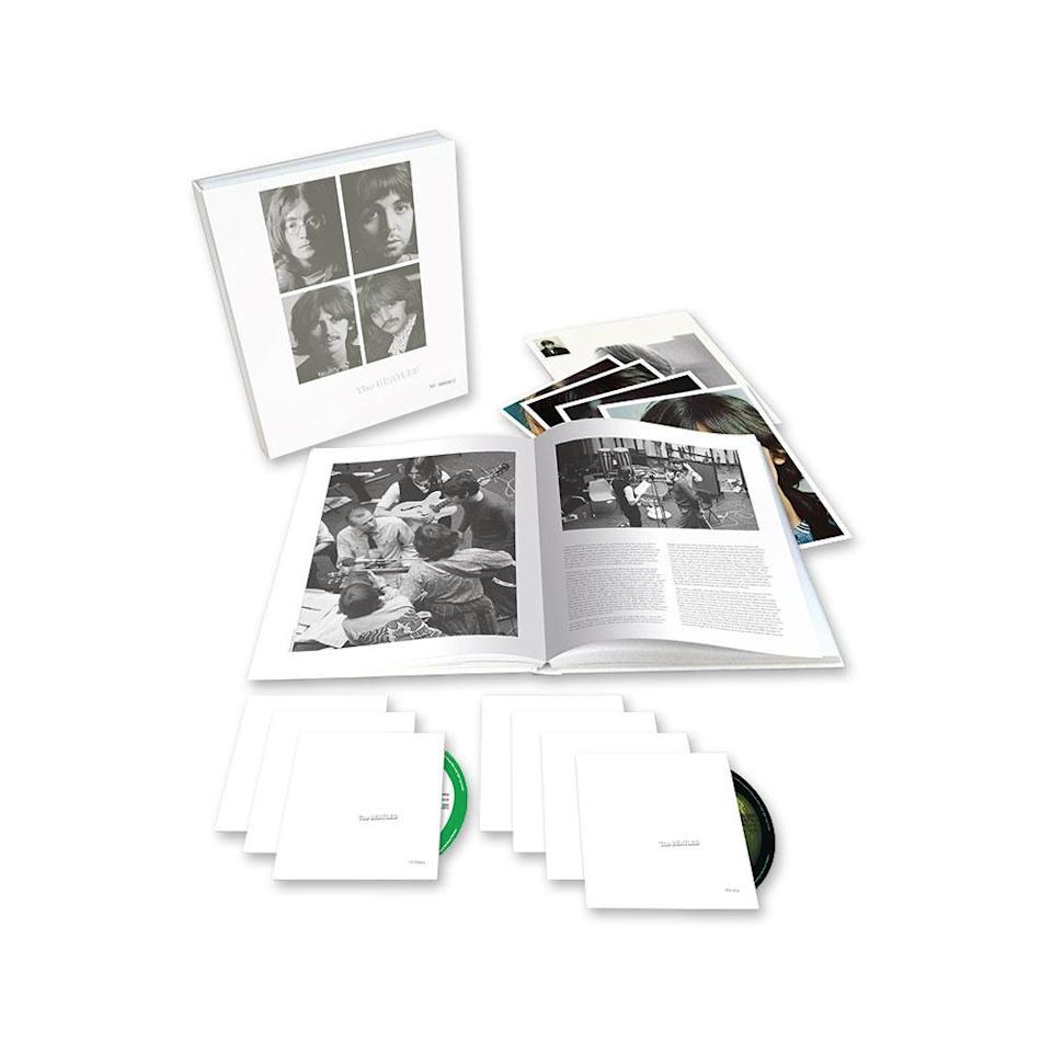 """<p>Following last year's deluxe reissue of Sgt. Pepper's Lonely Hearts Club Band, the Beatles' discography is the gift that keeps on giving — with this 50th-anniversary, seven-disc, 107-song collection, remixed by Giles Martin, son of the late Beatles producer Sir George Martin. This box features 50 additional Beatles recordings, and the true Christmas miracle here is Disc 3's official unarchiving of the long-bootlegged """"Esher Demos"""" recorded at George Harrison's home in Surrey. </p>"""