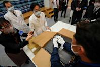 Japan has so far approved just one vaccine, and will start jabs for a group of 40,000 healthcare workers initially