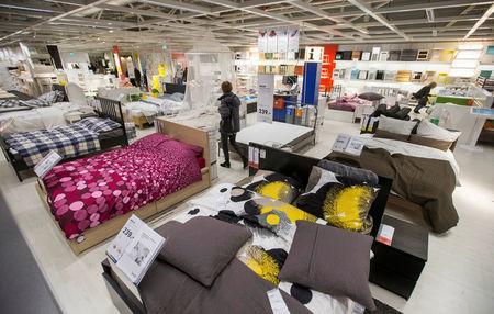FILE PHOTO: A customer is seen inside IKEA Concept Center, a furniture store and headquarters of the IKEA brand owner Inter IKEA, in Delft, the Netherlands March 16, 2016.   REUTERS/Yves Herman/File Photo