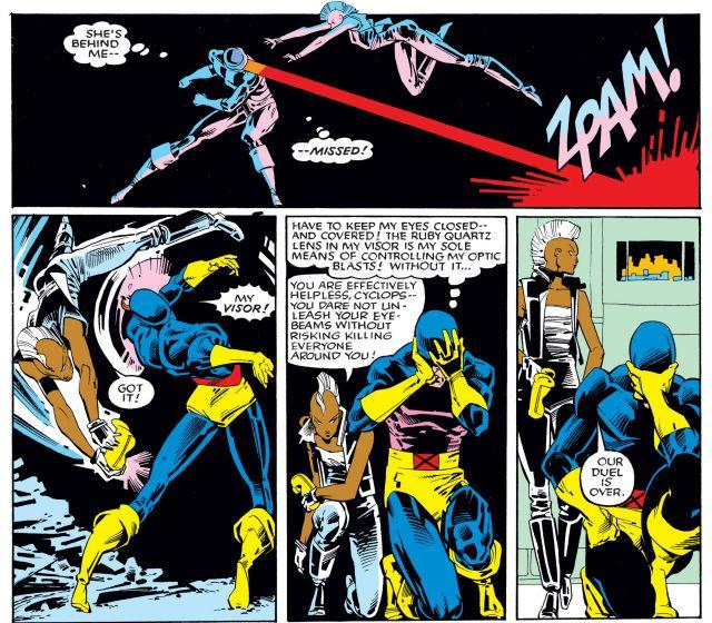 Storm and Cyclops duel