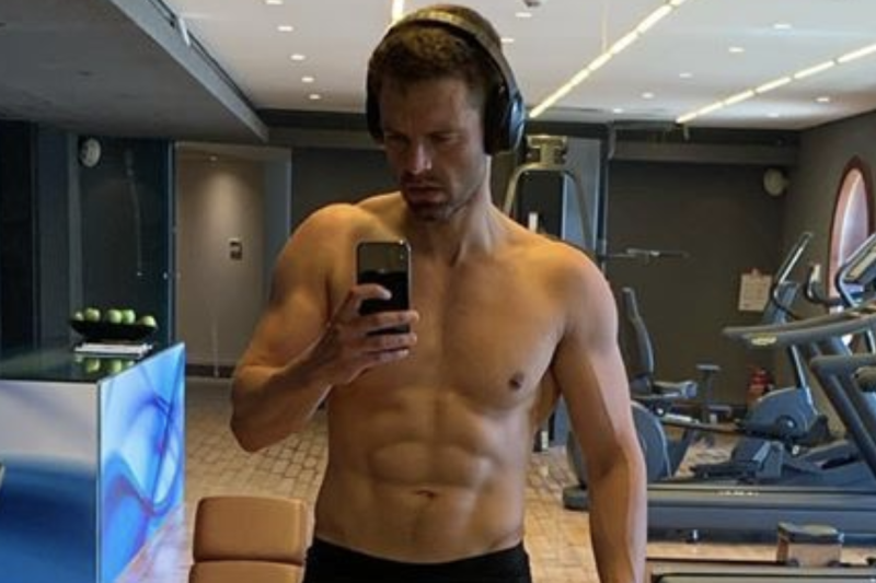 Sebastian Stan has pulled a Pratt — and he's showing off all the work he's done to get in superhero shape. (Screenshot: Sebastian Stan via Instagram)