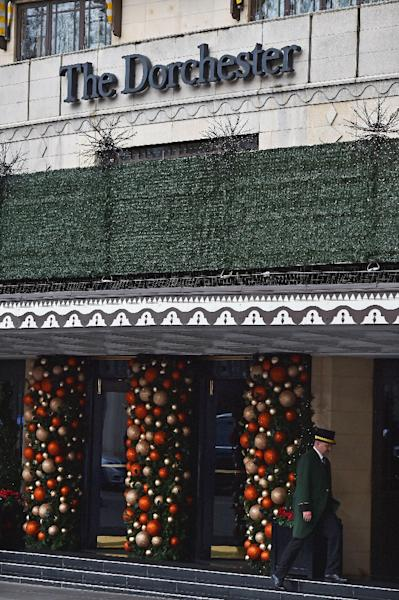 The Christmas prohibition does not extend to the business interests of the sultan, who owns the Dorchester Hotel in London (AFP Photo/Ben Stansall)
