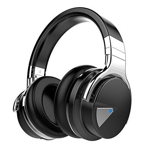 COWIN E7 Active Noise Cancelling Headphones Bluetooth Headphones with Microphone Deep Bass Wireless Headphones Over Ear, Comfortable Protein Earpads, 30 Hours Playtime for Travel/Work, Black (Amazon / Amazon)