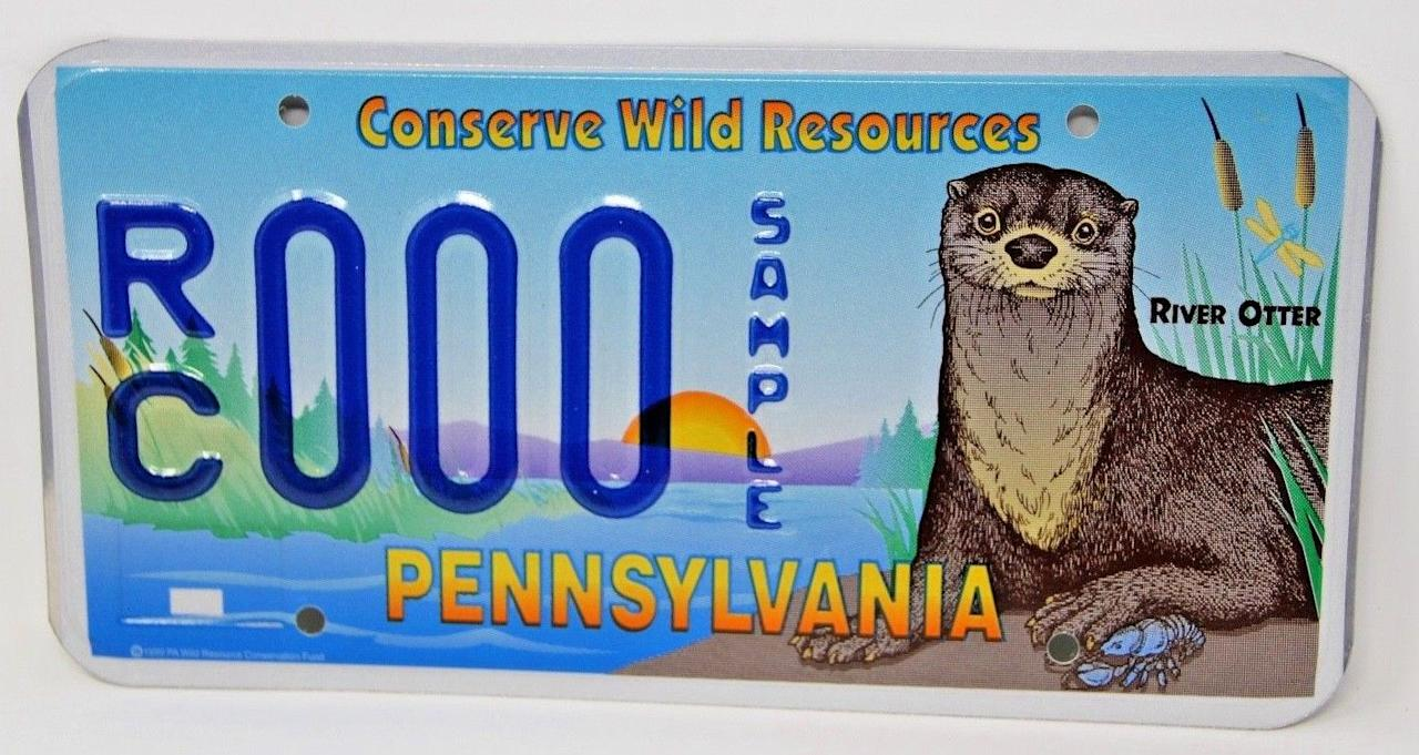 <p>Pennsylvania's river otter plate is the most colorful design on this list, featuring a beautifully detailed lake scene and a cute little otter. </p>