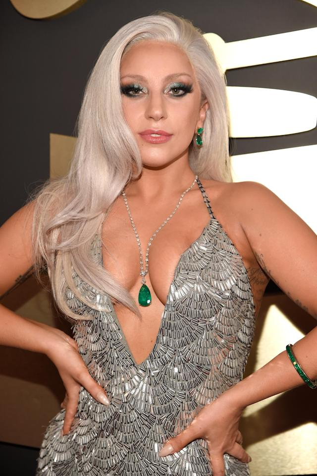 <p>Lady Gaga is a lady of many looks, and this soft-silver '60s wave is too good to be true. (Photo: Getty Images) </p>