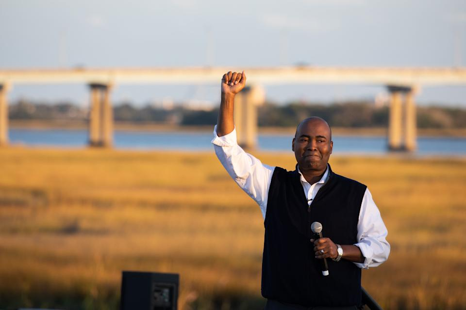 Democratic Senate candidate Jaime Harrison broke records for the most money raised by a Senate candidate during the third quarter in political history.  (Photo: LOGAN CYRUS via Getty Images)