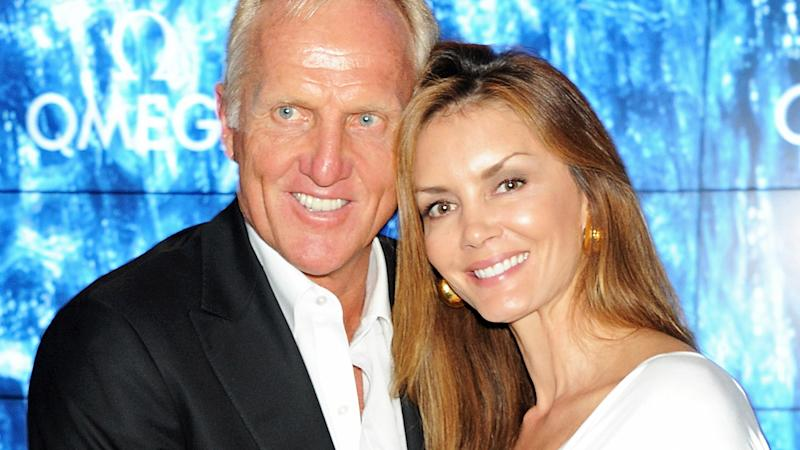 Greg Norman and wife Kirsten Kutner, pictured here at OMEGA House during the London 2012 Olympic Games.