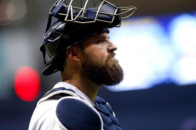 Rays catcher Derek Norris is being investigated by MLB. (AP)
