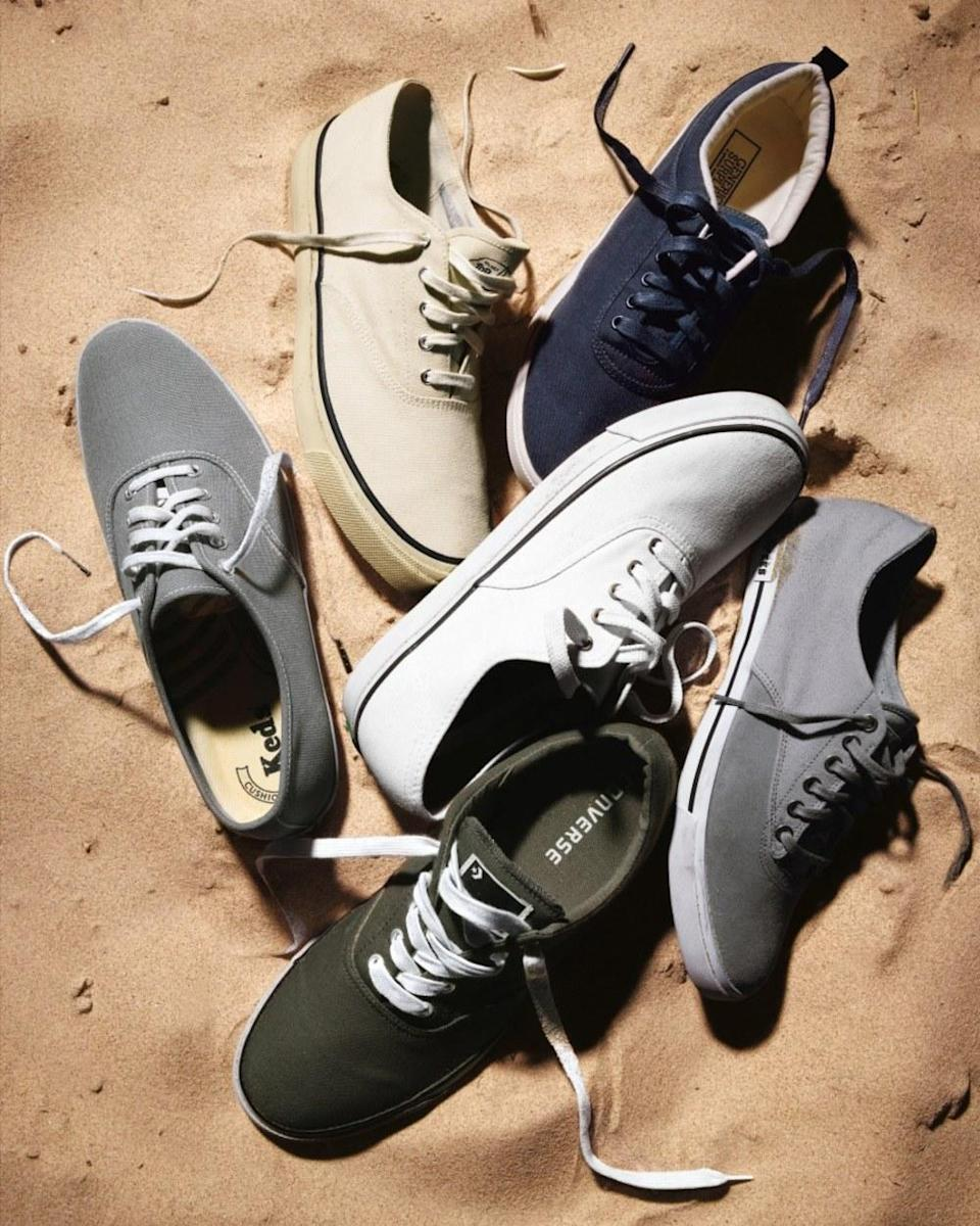 Canvas sneakers are <em>the</em> summer sneakers, whether you're wearing 'em with shorts or a crisp cotton suit.