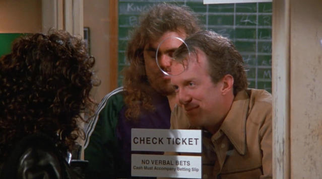 Tracy Letts (far right) on <em>Seinfeld</em> (Photo: Hulu)