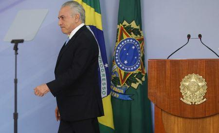 Brazil's Temer vows to push reforms after vote on graft charge