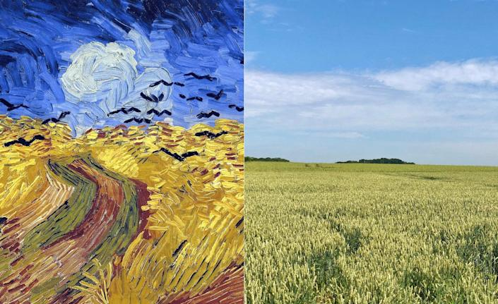 It's impossible to know if Van Gogh's <em>Wheatfield With Crows</em> (1890) was the artist's final painting (namely due to the ominous crows flying in the wind from an impending storm in the distance). What we do know for sure, however, are two facts. First, the painting was completed at the very end of his brief life (Van Gogh died at the age of 37, a decade after becoming an artist). And second, that the wheat fields depicted in the painting are actually located right behind the cemetery wall where Van Gogh's tombstone lies. His brother Theo—who died less than a year after his older brother, due to complications stemming from syphilis—is buried at Vincent's side.
