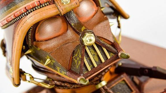 """<img alt=""""""""/><p>For most fashionistas, the very idea of cutting up a Louis Vuitton handbag is tantamount to sartorial sacrilege. But, these upcycled designer bags are every <em>Star Wars</em> fan's dream-come-true.</p> <p>Artist and upcycler <a rel=""""nofollow"""" href=""""https://gabrieldishaw.squarespace.com/"""">Gabriel Dishaw</a> is turning vintage Louis Vuitton bags into Darth Vader, Kylo Ren, and Stormtrooper sculptures. And, they're breathtaking works of art.</p> <div><p>SEE ALSO: <a rel=""""nofollow"""" href=""""http://mashable.com/2017/12/14/star-wars-google-pixel-ar/"""">Google is geeking out over the new 'Star Wars' just as much as you are</a></p></div> <p>In addition to vintage designer luggage, Dishaw uses things like braided wire, computer chips, wire, and other electronic materials to create his intricate pieces.</p> <div> <div><blockquote><div> <div><div></div></div> <p><a rel=""""nofollow"""" href=""""https://www.instagram.com/p/BcB1MxxlPEe/"""">In the studio working on a new Kylo Ren. - - -  #louisvuitton #louisvuittonbag #louisvuittonlover #supreme #supremelv #kyloren #Gabrieldishaw #darthvader #starwars #vader #darkside #art #sculpture #upcycled #recycled #starwarsart #junkart #creative #artist #artsy #instaart #gallery #instaartist #artoftheday #recycledart #scifi #artwork</a></p> <p>A post shared by <a rel=""""nofollow""""> Gabriel Dishaw</a> (@gabrieljunkart) on Nov 27, 2017 at 10:19pm PST</p>  </div></blockquote></div>   </div> <p>""""I'm constantly looking for new ways to use old materials, showcasing them in a new light that is of interest to me,"""" <a rel=""""nofollow"""" href=""""https://gabrieldishaw.squarespace.com/aboutgabrieldishaw/"""">reads</a> a blog post on Dishaw's website.</p> <p>Kylo Ren and Darth Vader feature pretty heavily in Dishaw's sculptures, suggesting he could very well favour the Dark Side.</p> <p>The Vader sculptures kind of look like the Sith Lord has developed a penchant for fine leather goods. Good for you, Darth.</p> <div><div><blockquote><div> <div><div></div></div> <p"""