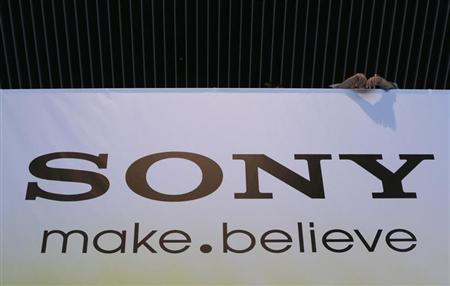 Sony Corp's logo is seen at the company headquarters in Tokyo