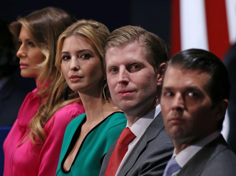 Eric Trump told Fox he will always be his father's 'cheerleader': Getty
